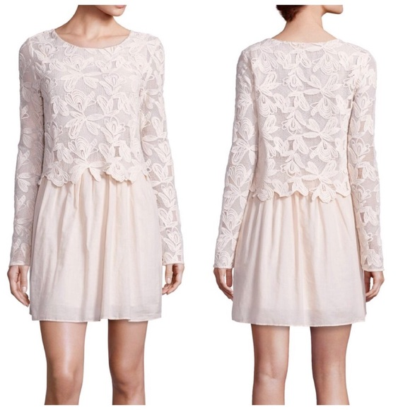 5fbe7dcad5 NWT See by Chloe Guipure lace cotton layered dress NWT